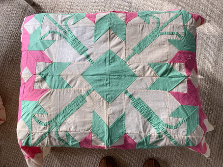 Quilt Top Ottoman Slipcover