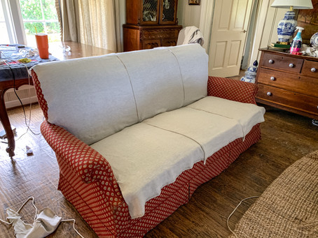 One-Piece Sofa Slipcover Tutorial: Part 2