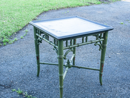 Table Makeover with MMS Milk Paint in Boxwood