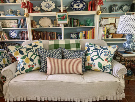 One-Piece Sofa Slipcover Tutorial: Part 3