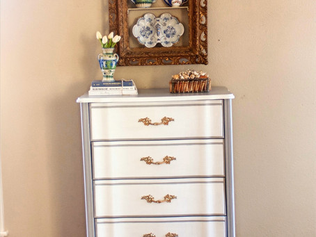 French Provincial Tall Chest Makeover