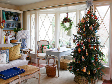 Christmas Home Tour:  Sunroom and Huntroom