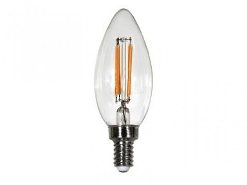 ENCLOSED 4W LED  FILAMENT B10 90+CRI 2700K DIM E12 JA8