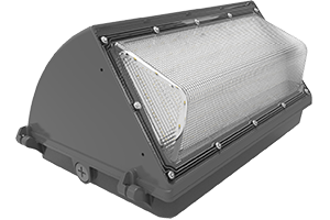 LED Wall Pack, , 80 Watts, 5000 Kelvin, 100-277 V, Frosted Lens, Photo Cell