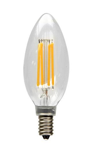 4W LED FILAMENT B10 80 CRI 2700K DIM E12