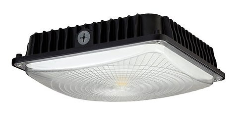Large Slim Parking Garage Canopy LED - 100w - Black