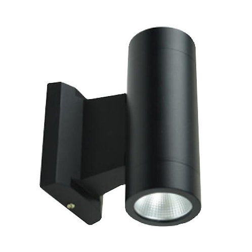 LED Up & Down Wall Sconce - Indoor Outdoor - 10w - Black