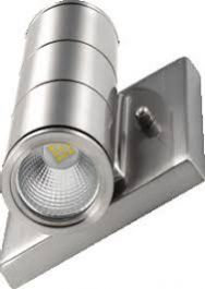 LED Up & Down Wall Sconce - Indoor Outdoor - 10w -  Nickle