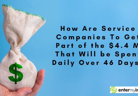 How Are Service Companies To Get Part of the $4.4 M That Will be Spent Daily Over 46 Days?