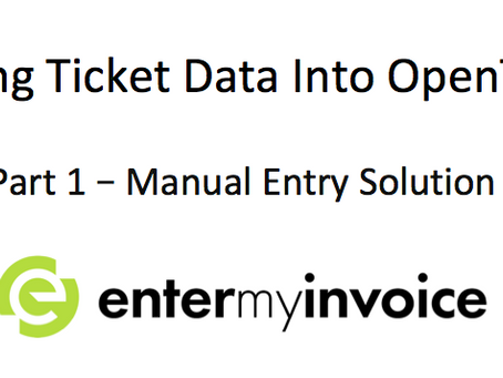 How to Automate Data Entry into OpenTicket