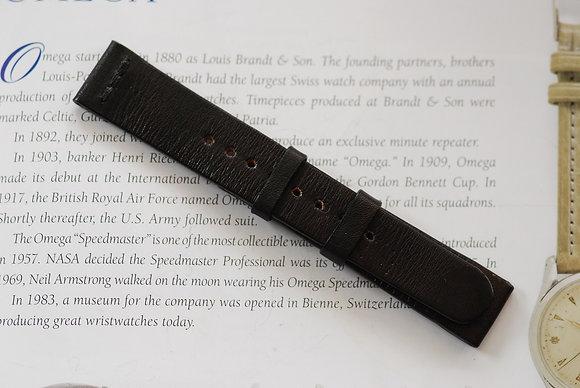 19mm Dark brown Handmade strap Thick