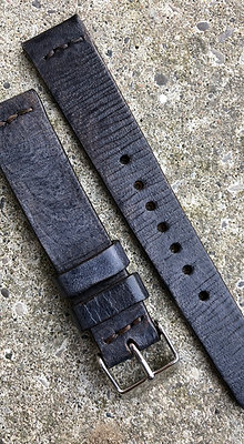 18mm Grey Handmade strap