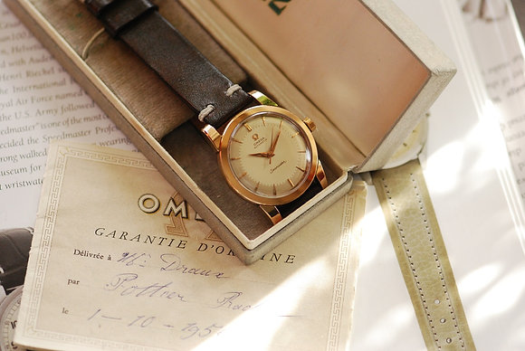 1954 OMEGA SEAMASTER ROSE GOLD CAPPED