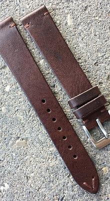 18mm Vintage Style brown strap