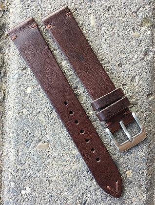 20mm Vintage Style brown strap