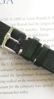 20mm Dark Green Handmade strap Thick