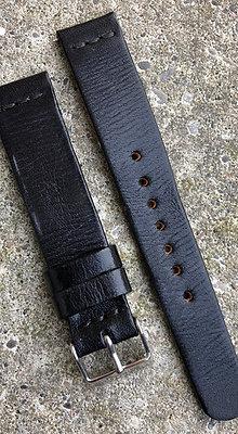 18mm Black Handmade strap