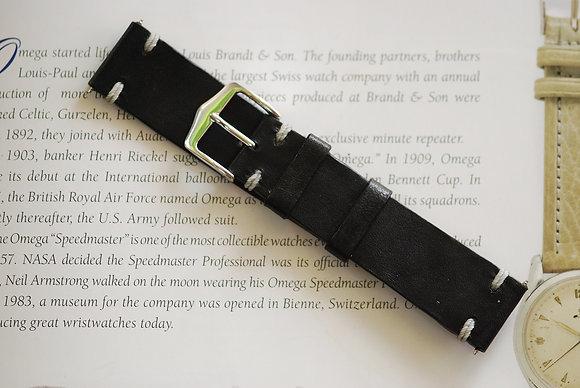 20mm Dark Grey Handmade strap