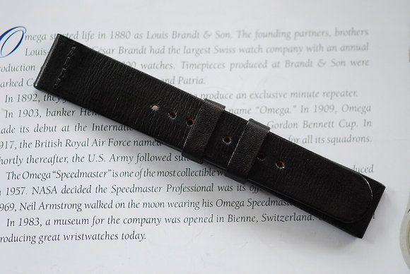 20mm Dark Brown Handmade strap Thick