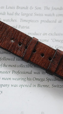20mm Brown Handmade strap Thick