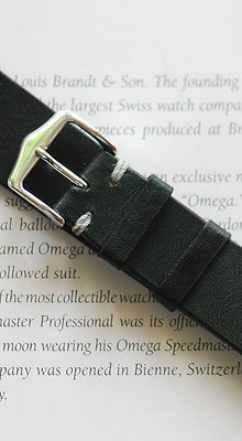 20mm Dark Green Handmade strap