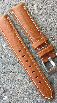 20mm Camel Stitch brown strap