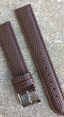 18mm Lizard grain Stitch Brown strap