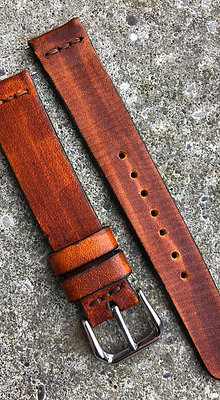 18mm Oak Red Handmade strap