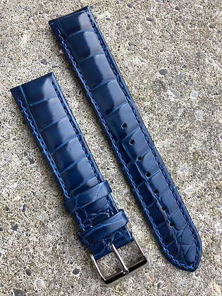 20mm Croco grain Blue strap
