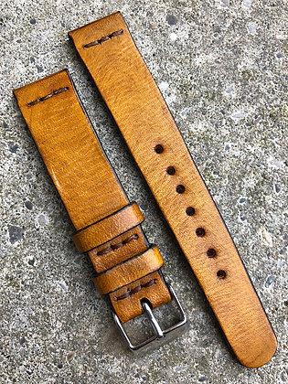 18mm Tan Handmade strap
