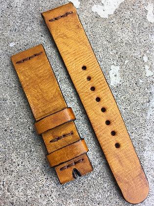 19mm Tan Handmade strap Thick