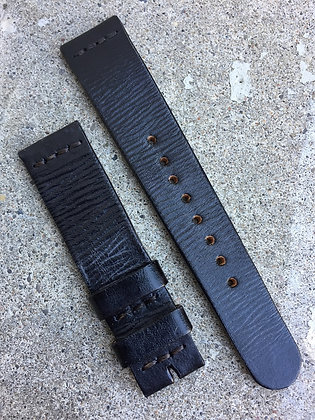 19mm Black Handmade strap Thick