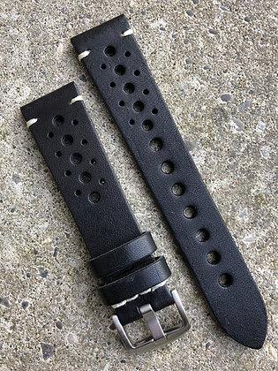 20mm Vintage style leather Black