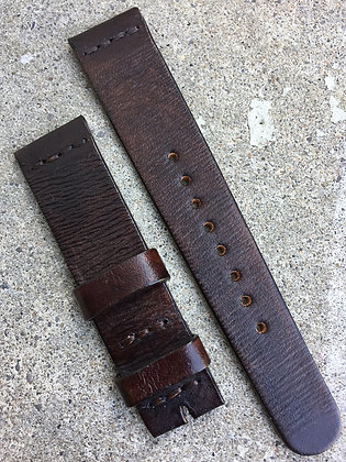 20mm Dark Brown Handmade strap Thick
