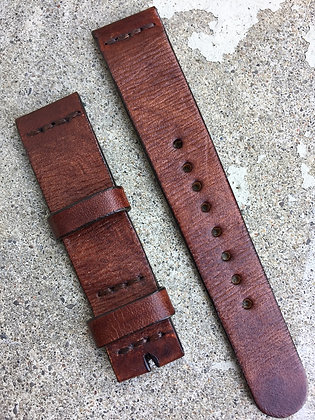 19mm Brown Handmade strap Thick