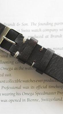20mm Dark Grey Handmade strap Thick