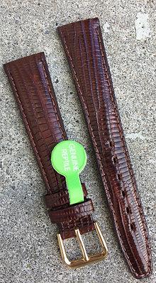 18mm Genuine Lizard Skin Brown strap