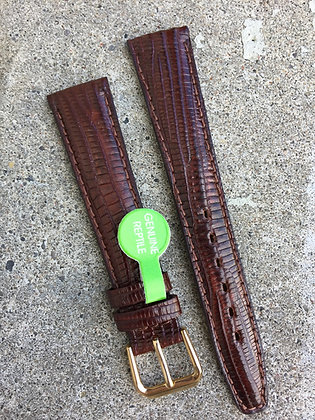18mm Genuine Lizard Skin Brown strap