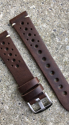 20mm Vintage style leather Brown