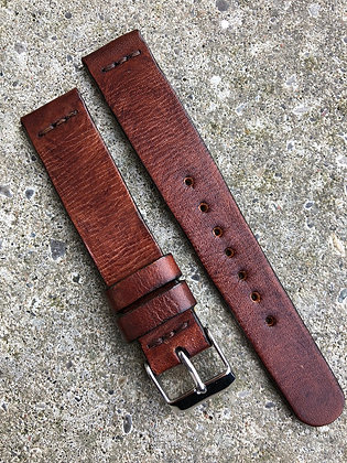 18mm Brown Handmade strap