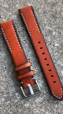 20mm Hand painted leather Brown