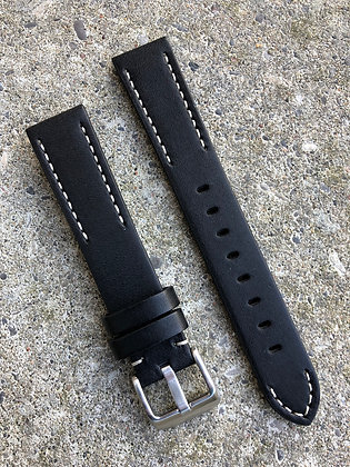 20mm Hand painted leather Black