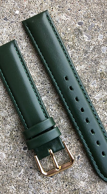 20mm Dark green stitching strap