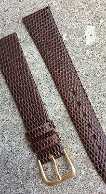 18mm Lizard grain Thin Brown strap