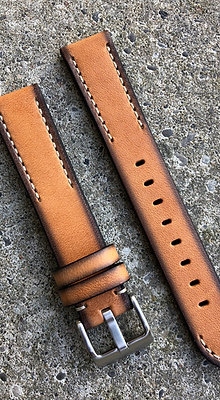 20mm Hand painted leather Beige
