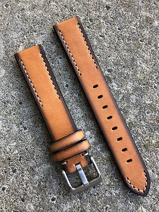 18mm Hand painted leather Beige