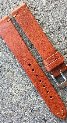 18mm Vintage Style tan strap