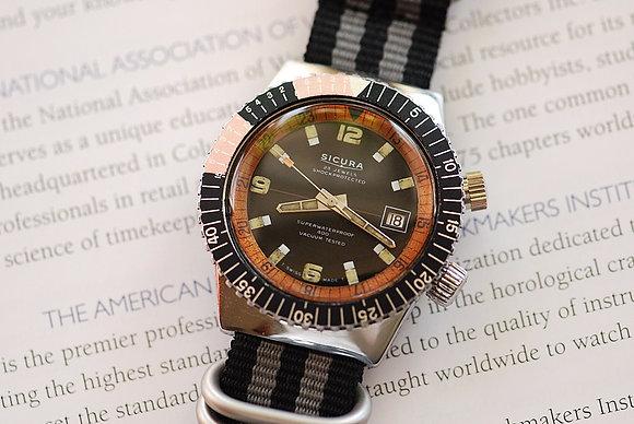 1970's Sicura Superwaterproof Diver's Watch