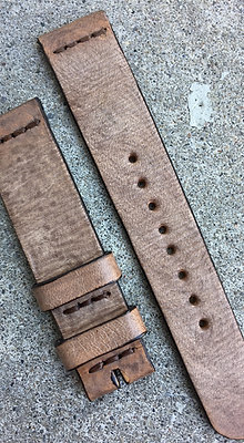 18mm Sand Handmade strap Thick