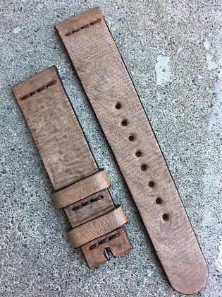 19mm Sand Handmade strap Thick